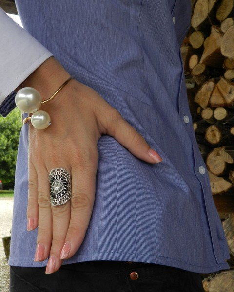 bracelet perles nacres
