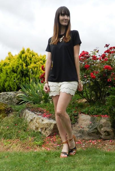 short dentelle blanc