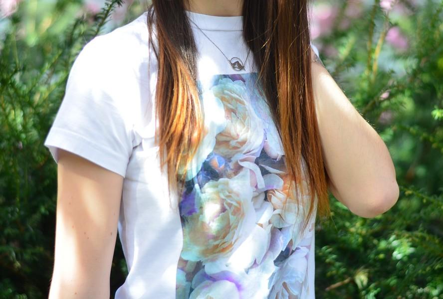 tshirt fleurs