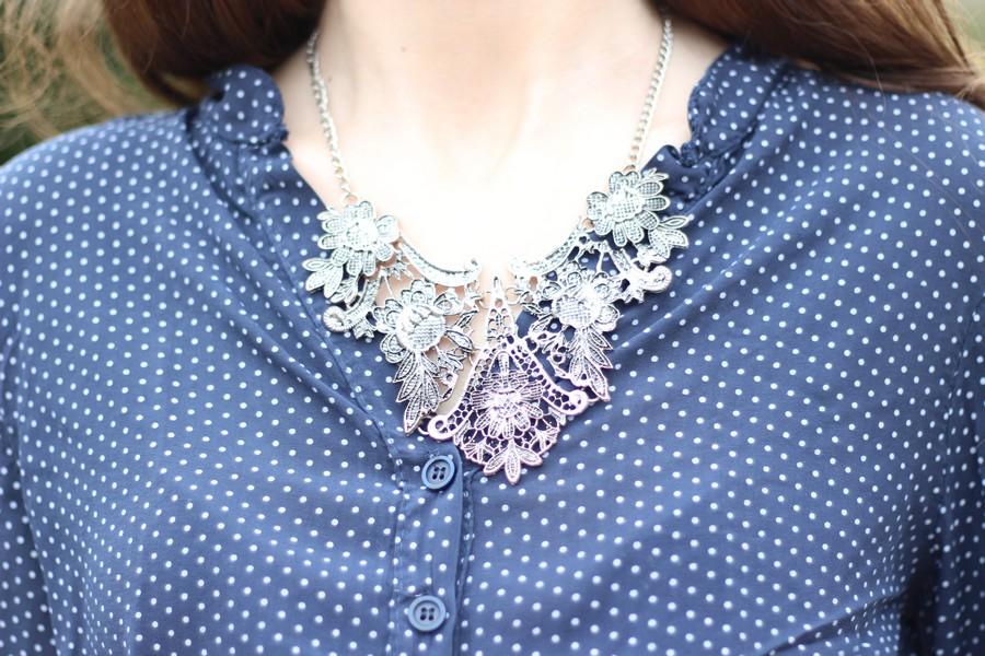 collier argente