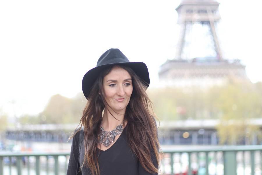look chapeau noir