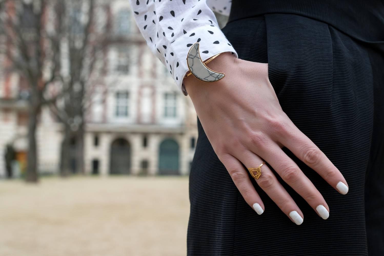 bracelet lune marbre