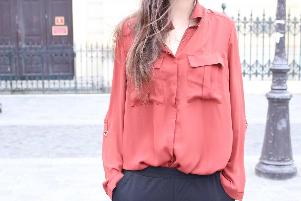 chemise bordeaux